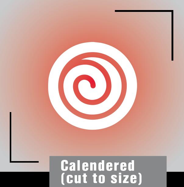 Calendered-cut