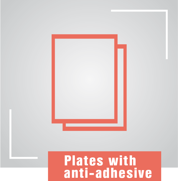 Plates-with–anti-adhesive