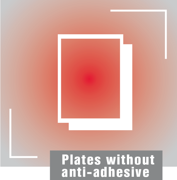 Plates-without–anti-adhesive